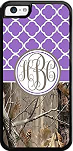 Country Girl Purple Quatrefoil Brown Camo Ing Monogram Case Cover For iPhone 6 plus 5.5'' Case- Snaps on