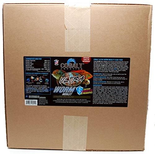 Cobalt Aquatics MODEL-23076 1 Piece Ultra Worm Medley Fish Food, Large/30 lb by Cobalt Aquatics