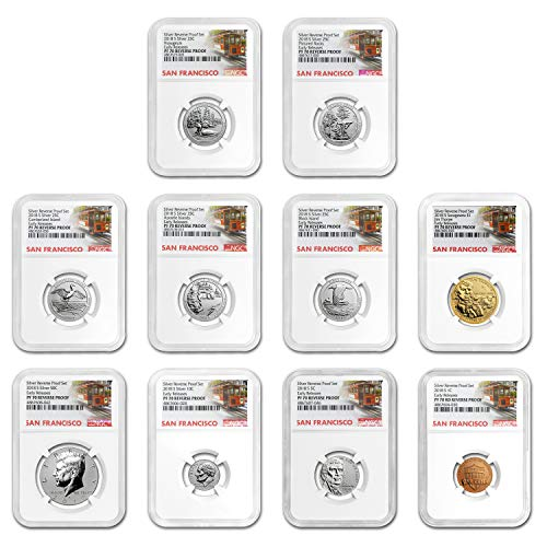 2018 S Silver Reverse Proof Set PF-70 NGC (Early Releases) PF-70