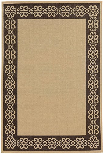 Tommy Bahama Seaside 3.7 X 5.6 Indoor/Outdoor Rug By Oriental Weavers - Beige & Brown (Rugs Bahama Outdoor Tommy)