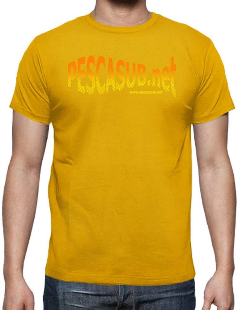 latostadora - Camiseta Negra - Logo Amarillo para Hombre Amarillo Mostaza S: pescasub.net: Amazon.es: Ropa y accesorios