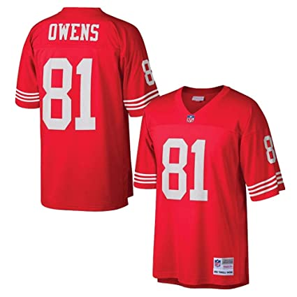 Mitchell   Ness Terrell Owens 2002 San Francisco 49ers Home Red Legacy  Jersey 77b52328e