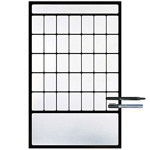 Cohas Magnetic Backed 1 Month Calendar includes Black Markers, Whiteboard, French (Frn Note)