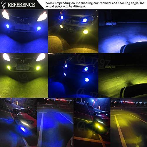 Car Fog Lamp Automobiles & Motorcycles 2pcs Led H8 H11 Led Bulb Dual Color Car Fog Lights 2800lm Drl Lamp Auto 12v 6000k White 3000k Yellow 8000k Ice Blue