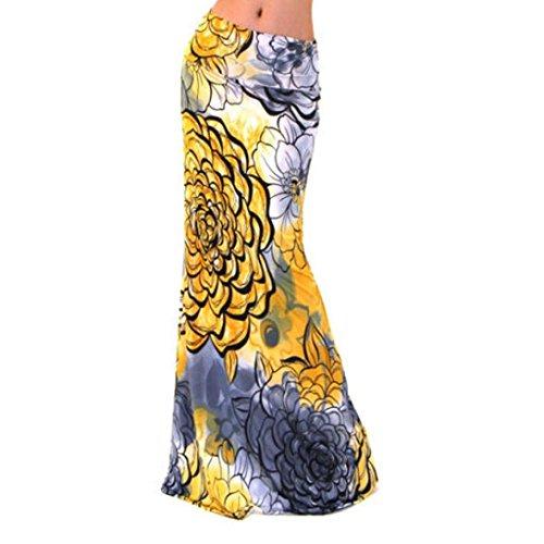 Kwok Skirt,Women's Summer Boho Long Maxi Dress Beach Waist Skirt