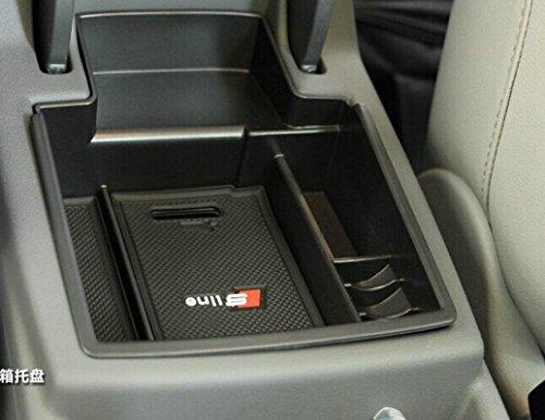 sunluway 2015 latest car glove box armrest storage box organizer center console tray for audi. Black Bedroom Furniture Sets. Home Design Ideas