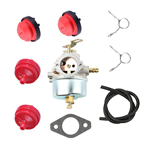 Butom 632334 632334A Carburetor+Fuel Line+Primer Bulb+Fuel Filter for Tecumseh 7hp 8hp 9hp HM70 HM80 HMSK80 HMSK90 Toro Craftsman MTD Snow Blower King Engine