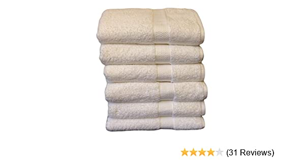 Amazon.com: Grandeur Hospitality Bath Towels, 100% Cotton, 6 Pack, White: Home & Kitchen