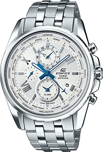 7a Edifice Mens Watch (Casio Edifice Silver Dial Stainless Steel Men's Watch EFB301JD-7A)