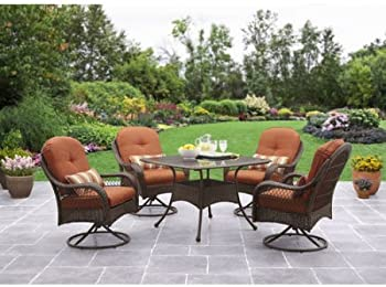 4-Seats Azalea Ridge 5-Piece Patio Dining Set