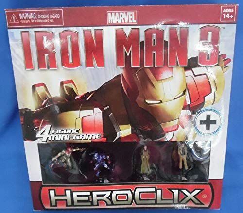 - Heroclix Iron Man 3 4 Figure Mini Game Marvel Sealed Pack WizKds Mandarin