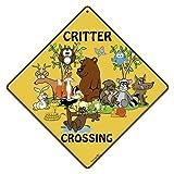 CROSSWALKS Critter Crossing 12' X 12' Aluminum Sign