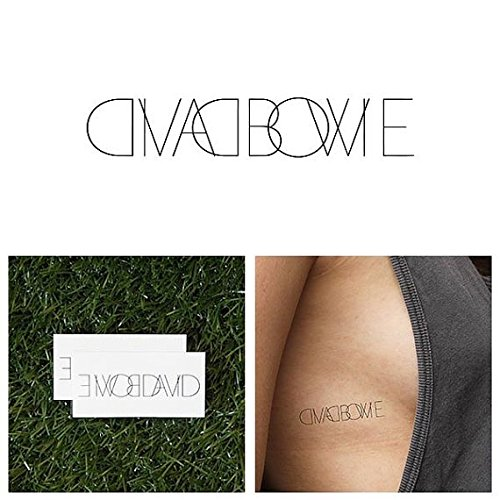 [Tattify David Bowie Temporary Tattoo - Labyrinth (Set of 2) - Other Styles Available and Fashionable Temporary Tattoos - Tattoos that are long lasting and Waterproof] (Bowie Costume Designer)