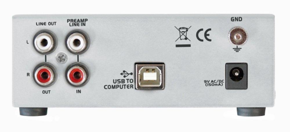 Dynavox UPR-2.0 USB - Preamplificador para tocadiscos con puerto USB, color plateado: Amazon.es: Electrónica