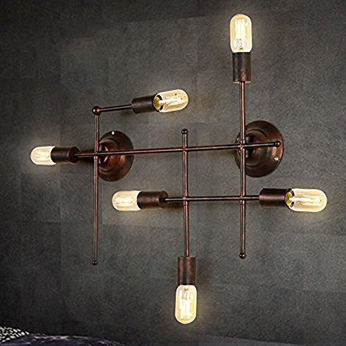 Kunmai vintage rust metal geometric circuit 6 exposed bulbs indoor kunmai vintage rust metal geometric circuit 6 exposed bulbs indoor wall light fixture aloadofball Choice Image