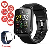 Smart Watch Fitness Tracker HR for Men Women Kids IP67 Waterproof Smart Watch with Heart Rate Blood Pressure Sleep Monitor Pedometer Calorie GPS Tracker Sport Outdoor Travel Wristband for Android/iOS