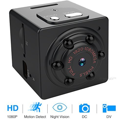 Hidden Spy Camera 1080P Portable Mini Digital Video Recorder with Night Vision, Motion Detection for Home Security Baby Cam