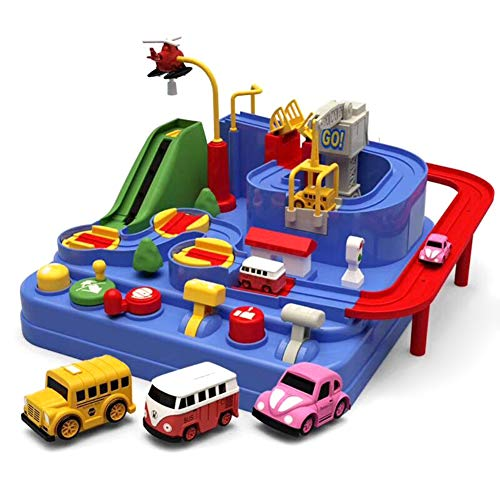 Aslion Car Adventure Game Manipulative Rescues Squad Adventure Rail Car Model Racing Educational Toys (5)