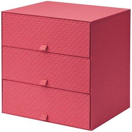Ikea pallra Mini – Cómoda con 3 cajones en Color Rojo; (31 x 26 x ...