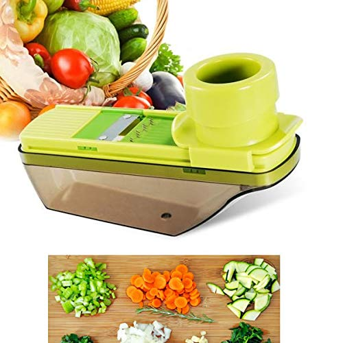OKSLO Veggie lover's compact palm sized veggie slicer and mini grater ()