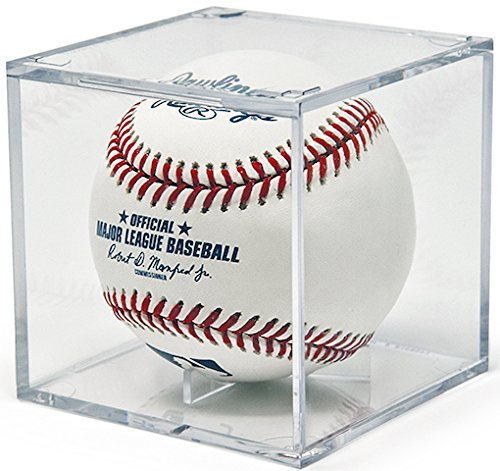 (6) Ballqube Baseball Display Grandstand Case Clear Stackable Square Cube (Ballqube Baseball Holder)