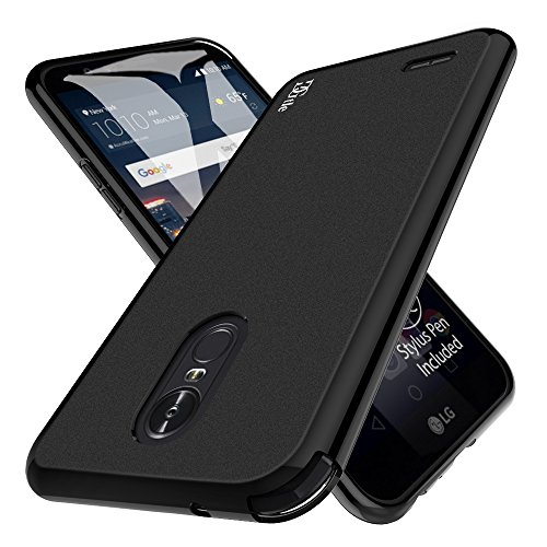 LG Stylo 3 Case, LG Stylo 3 Plus Case, DGtle Anti-Scratches Premium Slim Protective Cover for LG Stylo 3 Plus (Matte Black)