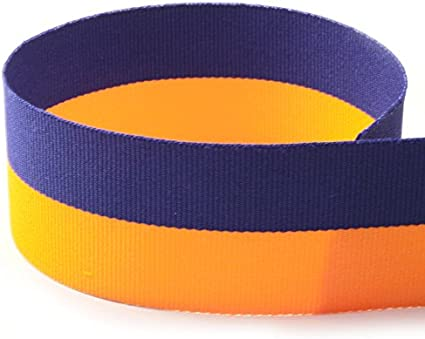 """5 Yards Colorful Yellow Pink Blue Orange Green Striped Wired Ribbon 1 1//2/""""W"""