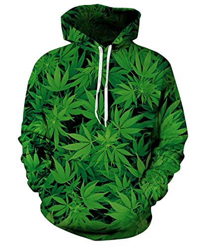 YOUR LOVE Weed Leaf Hipster Crewneck 3D Hoodie Pullover Men Harajuku Sweatshirt