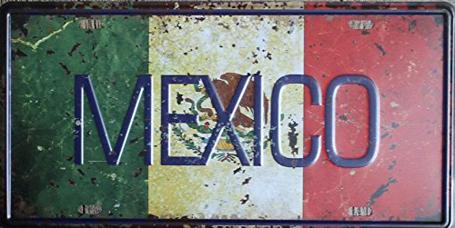 Sign Embossed - +Urbano Mexico Vintage Retro Auto Car Vehicle License Plate Tin Sign Embossed Tag Home Pub Bar Deco Wall Decor 6