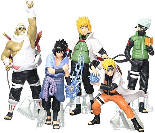 FUNWIZ Naruto Uzumaki Kakashi Sasuke PVC Figure (Set of (Naruto Toy Figures)