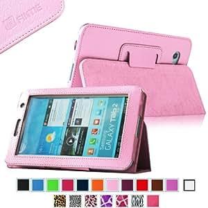 Fintie Slim Fit Folio Case Cover for Samsung Galaxy Tab 7.0 Plus / Samsung Galaxy Tab 2 7.0 Tablet - Pink