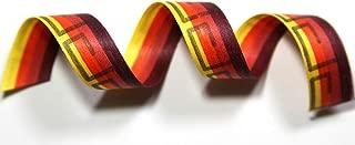"product image for 100% Biodegradable Natural Ribbon | Prints & Stripes | Ribbon for Crafts | Cotton Curling Ribbon | Holiday Ribbon | Wrapping Ribbon | Eco-Friendly Ribbon (Desert Sprial, 1/2"" x 100 Yards)"