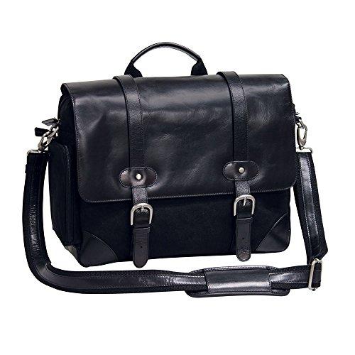 Bellino Prospector Briefcase, Black Bellino Flap Over Briefcase