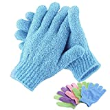 Bath Exfoliating Glove For Peeling Exfoliating Mitt Glove For Bath Shower Scrub Gloves Resistance Body Massage Sponge Wash Skin Moisturizing Spa Foam Bath Glove (blue)