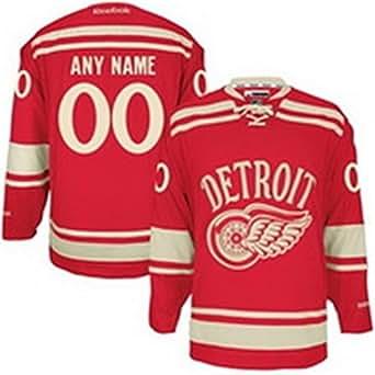 Amazon.com: SuJe Men's Detroit Red Wings Custom Jersey
