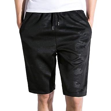 Pantalón Corto Chándal Sweat Bermudas para Hombre con Cinturón ...