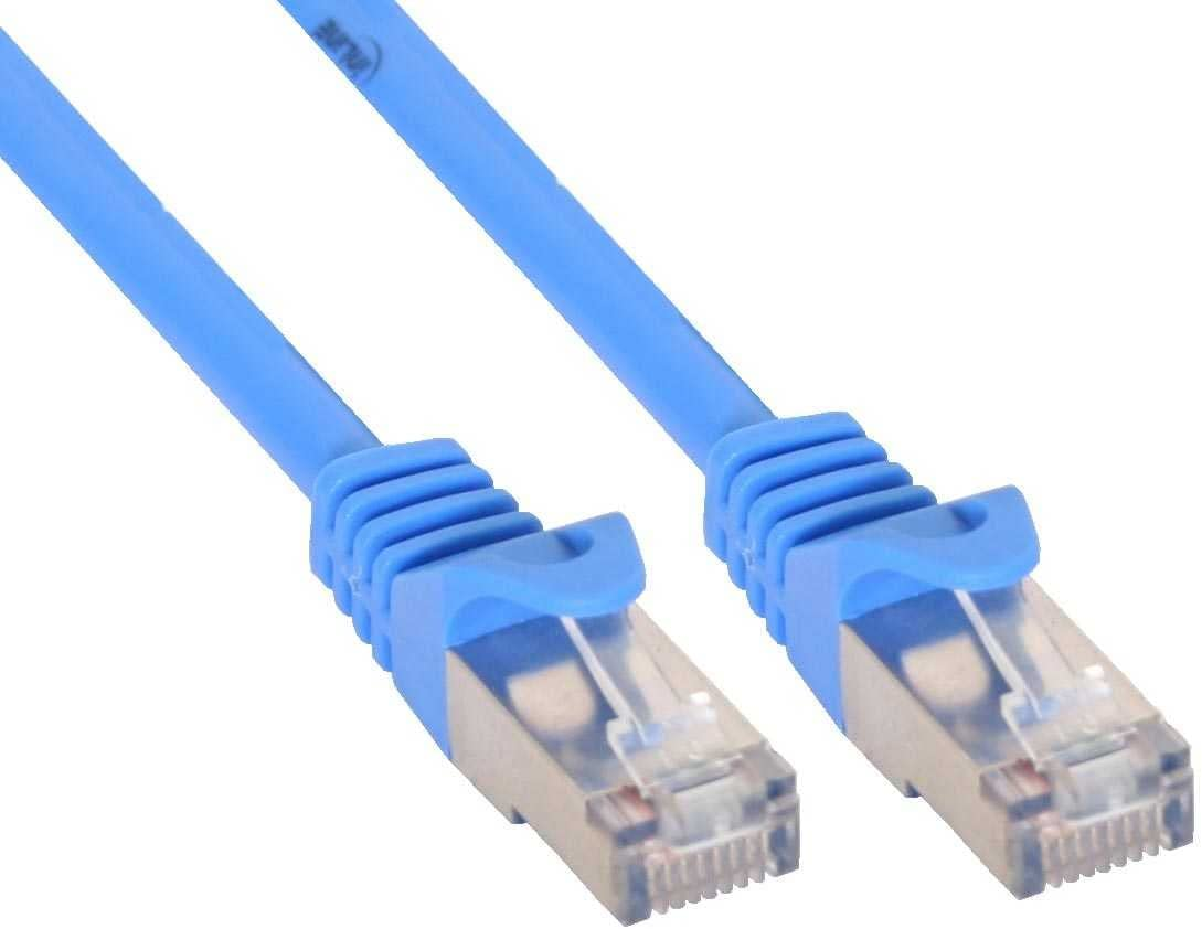 7m Inline Patch Cable Inline FTP Cat.5e Blue