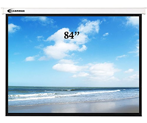 (ClearMaxTM 4:3/84-Inch Remote Control Electric Projector Screen, 110v Voltage Plug and Play)
