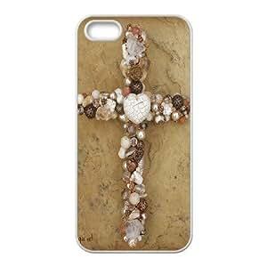 C-EUR Diy Jesus Christ Cross Hard Back Case for Iphone 5 5g 5s