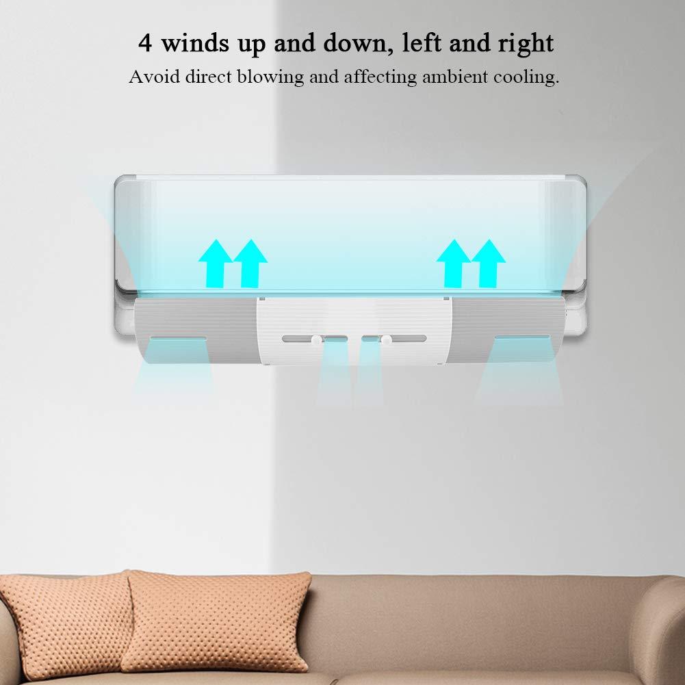 Deflector de aire acondicionado retr/áctil para parabrisas y aire acondicionado protecci/ón antiviento azul