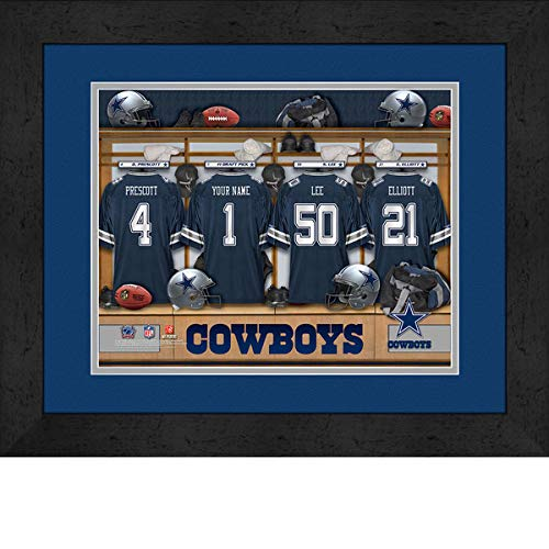 Dallas Cowboys Room Personalized Jersey Officially Licensed NFL Sports Photo 11 x 14 Print