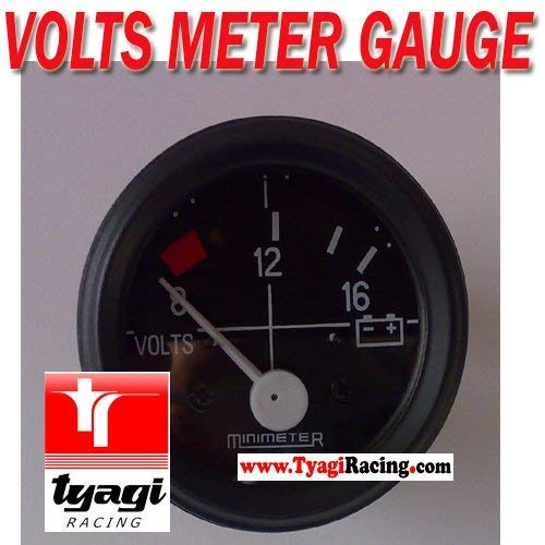 8-16 Volt Meter Smart Face Illuminated Marking Volt Meter Smoked Black Face: