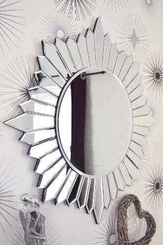 Very Modern Round Sunburst Design Venetian Mirror 2FT7 (90CM) by MirrorOutlet