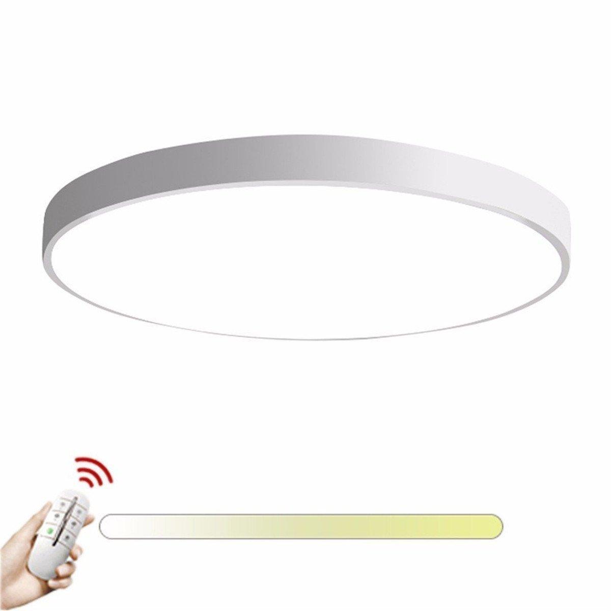 KAIRRY Runde Deckenlampe Ultra-dünne Deckenleuchte Wand Lampe Moderne Einfache Runde 5CM LED Deckenleuchten Wohnzimmer Schlafzimmer (Farbe   Weiß stufenlos dimmbar, Größe   60CM)