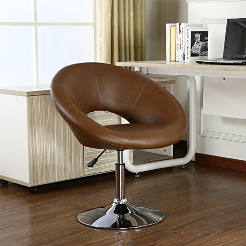 Roundhill Furniture Adjustable Swivel Accent Chair, Brown