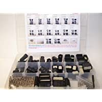 Molex BLACK Connectors, 477 Piece Kit, Stamped Terminals, Pic Tool, 3X to 20X, Wiring Switch, Wire 07-12, OEM, Harley, Auto,