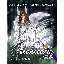 Hechiceras y Hadas: Libro para Colorear de Fantasía (Spanish Edition)