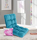 Iconic Home FRC2990-AN Daphene Adjustable Recliner Rocker Memory Foam Armless Floor Gaming Ergonomic Chair, Aqua