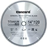 Concord Blades WCB1400T120HP 14-Inch 120 Teeth TCT General Purpose Hard & Soft Wood Saw Blade
