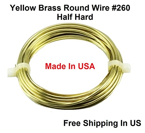 14 Ga Round Half Hard Yellow Brass Wire (1/4 Lb. - 21 Ft. -